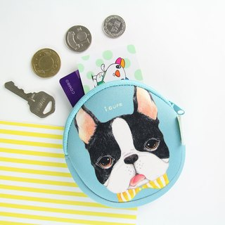 i Money Coin Purse Hand-drawn Wind Series - H4. Bow Boston Boston Cocker Spaniel