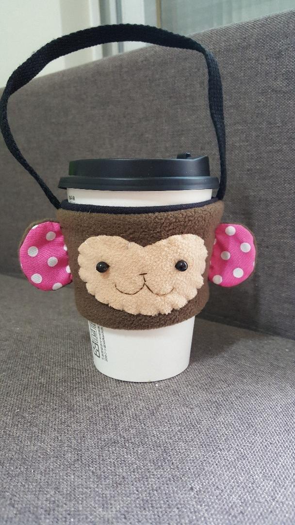 豆猴飲料杯套/提袋