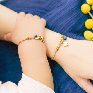 [Parental Bracelet] Smiling Parents in Clear Sky | Sister-Double-Chain Group Customized Gifts