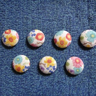 (C) _ blossoming flowers cloth badge Buttons large shipments [Random] C58DVY96