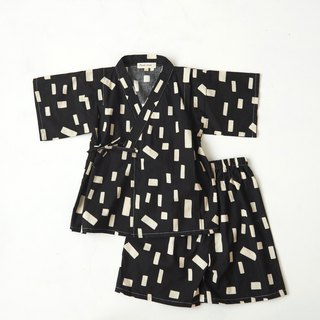 Black and White Cut - Summer Children's Japanese Flat / Bathrobe # Three models