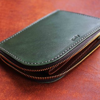 [LW01 L-style wallet purse] Italian thin wax plant bovine leather multi-color optional can be imprinted