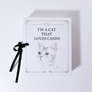 Cat Gift Box  Dainty necklace and ring  18KGF