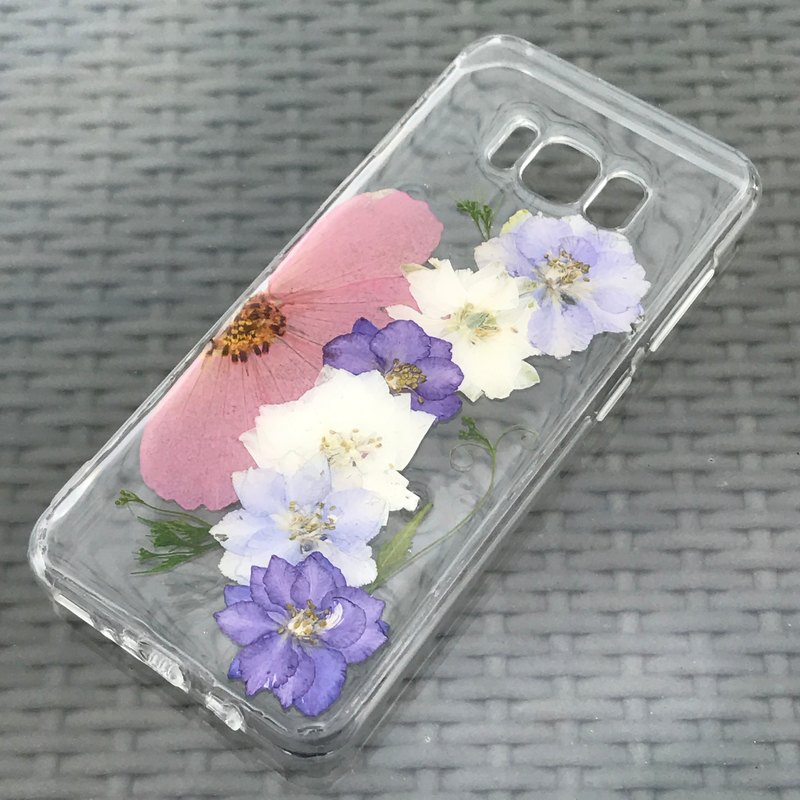 Samsung Galaxy S8 Dry Pressed Flowers Case Purple Flower case 025
