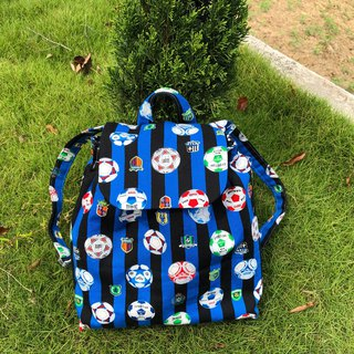 Football / limited edition small children's cotton backpack. Children's backpack. Baby's exclusive admission package.