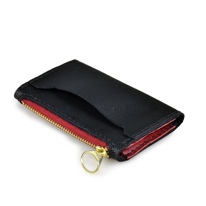 [U6.JP6 handmade leather] - pure handmade imported PU leather embossed natural handmade stitched leather purse + card + YKK zipper bags (for men and women).