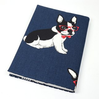 A5 Mom's Handbook Cloth Book Cloth - French Bulldog (Blue)