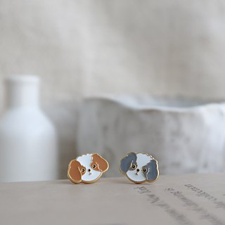 Shih Tzu Pin Earrings