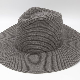[Paper cloth home] big hat gentleman hat (gray) paper line weaving