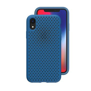 AndMesh-iPhone XR dot soft anti-collision protective cover - cobalt blue (4571384958844