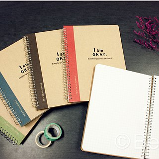 Berger Stationery xIamOkay 【36K loose-leaf notebook】 four colors, two pages
