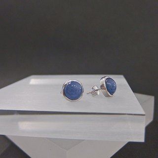 Star - natural kyanite sterling silver earrings original design in Hong Kong