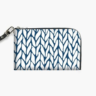 Snupped Isotope - Phone Pouch - Hand Knitted Navy