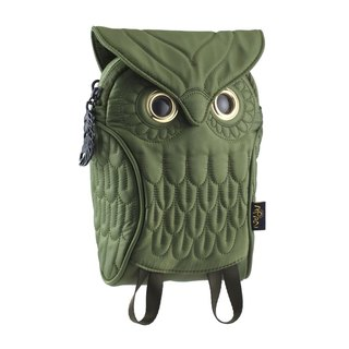 Morn Creations genuine owl purse - Green (OW-304-GN)