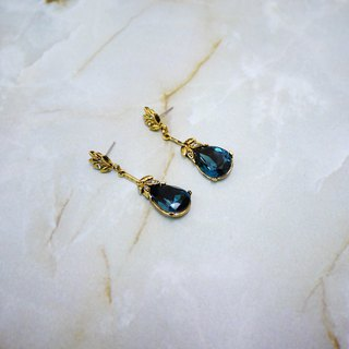 Elegant Waltz Retro Earrings (Blue)