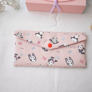 Dog red envelope bankbook storage bag
