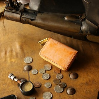 日本製造 硬幣錢包 牛皮 棕色 Thomas Waremade in JAPAN handmade leather wallet coincase