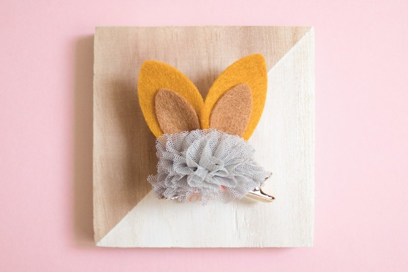Hair Clip Felt Cloth Ball Hair Clip Sweet Hair Clip Child Hair Accessories Child Hair Clip Rabbit Ears
