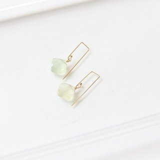 Prehnite earrings / Prehnite Gemstone 14K GF earring