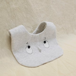 Invisible Friends D organic cotton bib saliva towel