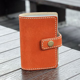 [DOZI leather hand made] middle button type card holder can be placed 20 cards can be freely selected