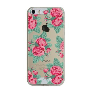 Ordered English garden (red roses) transparent Samsung S5 S6 S7 note4 note5 iPhone 5 5s 6 6s 6 plus 7 7 plus ASUS HTC m9 Sony LG g4 g5 v10 phone shell mobile phone sets phone shell phonecase
