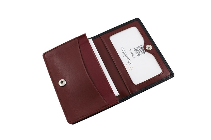 LAPELI │ Mixed Color Card Holder Black / Coffee & Dark Red