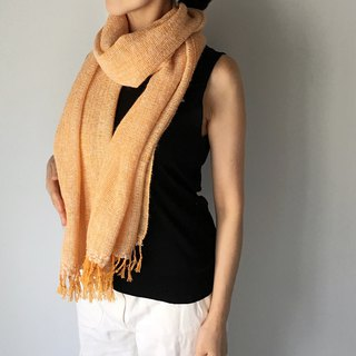 Unisex Scarf / Orange and White Mix - All season available -