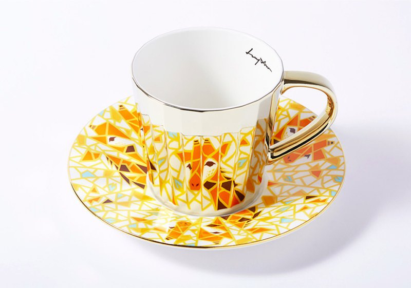 Luycho 鏡面倒影杯 咖啡杯 _ 長頸鹿 (大款)