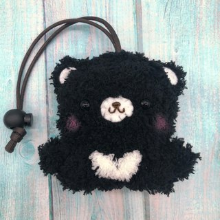 Marshmallow Animal Key Bag - Small Key Bag (Black Bear)