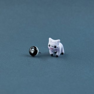 Dr.Finklestein Cat - Polymer Clay Earrings, Handmade&Handpaited Catlover Gift