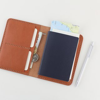 Multifunctional Passport Holder / Notepad (with Blank Notepad) - Ancient Orange