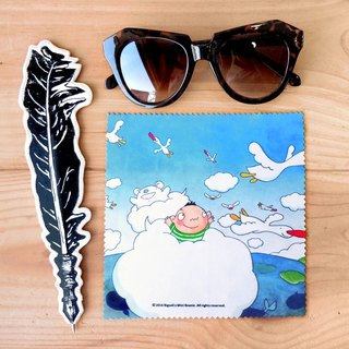 A-market big mud glasses cloth -08 sea bird friends, AMK-BSLC00108