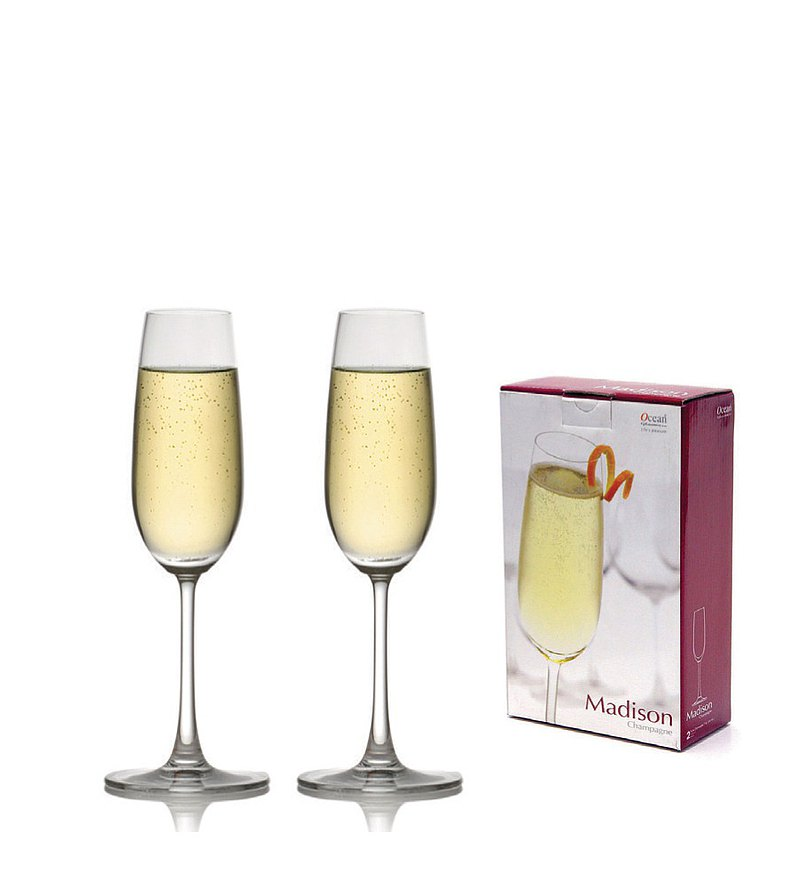 Madison Champagne Glasses Gift Set 210ml