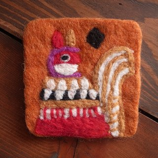 【Grooving the beats】Cup coasters, Felt coasters(Animal_Squirrel)
