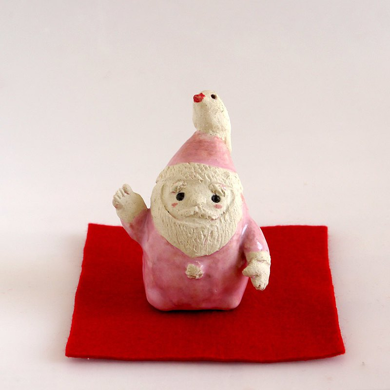 Java sparrow Santa Claus pottery