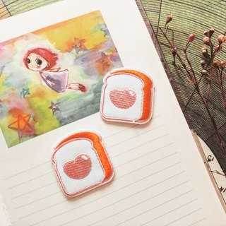 Original embroidery | small toast account decoration hot cloth stickers