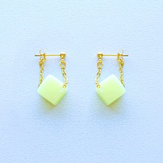Chrysanthemum maru lab micro-sweet early summer lemon candy sway earrings / ear clip (ED006)