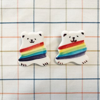 Yanhiko - Rainbow Bear Pins