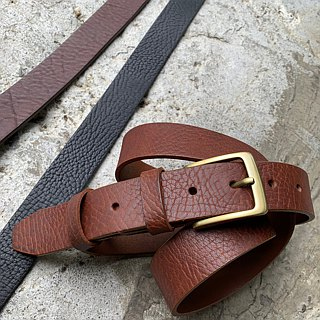 Classic men's belt belt with carefully selected cowhide - 3.5 cm wide