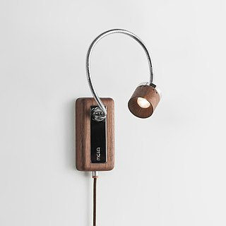 Whims LED Wooden Reading Wall Light ∣ Touch Three-Dimming ∣ Walnut