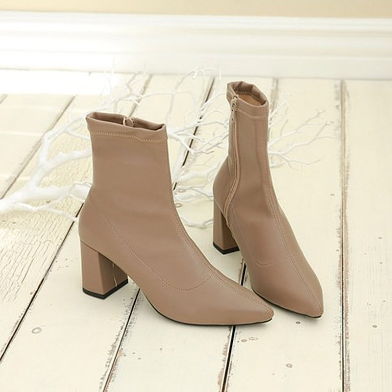 PRE-ORDER – MACMOC Maxi (Beige)  Ankle Boots