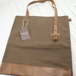Travelholic Tote Bag- Brown