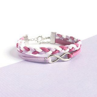 Handmade Double Braided Infinity Bracelets–purple