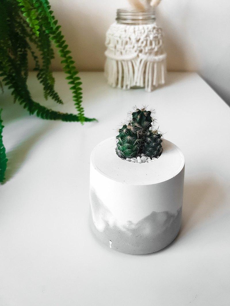 雪山洞穴-桌上型盆栽/水泥盆栽