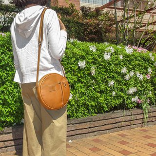 Arc Curve Japanese Sweet Leather Backpack Made in Japan by FOLNA