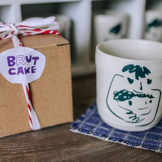 Brut Cake Handmade pottery - smiling mug 280ml-2 (12/31/2016 before buying comes Kofu coaster a)