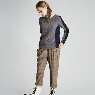 British naughty plaid pants (1702PT02BR-S/M)