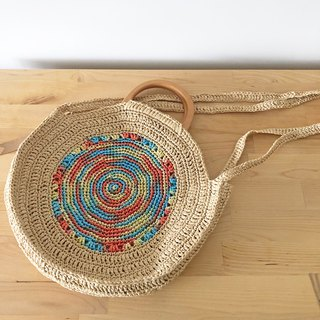 Summer Beach Vacation Woven Bag - Round Shoulder Bag