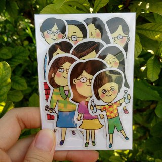 Also teachers and friends stickers package